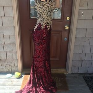 Red prom or homecoming dress
